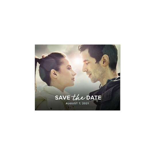 20 Pack of Gartner Studios® Personalized Soft Birch Wedding Save The Date Postcard in Baby Blue | 4.25
