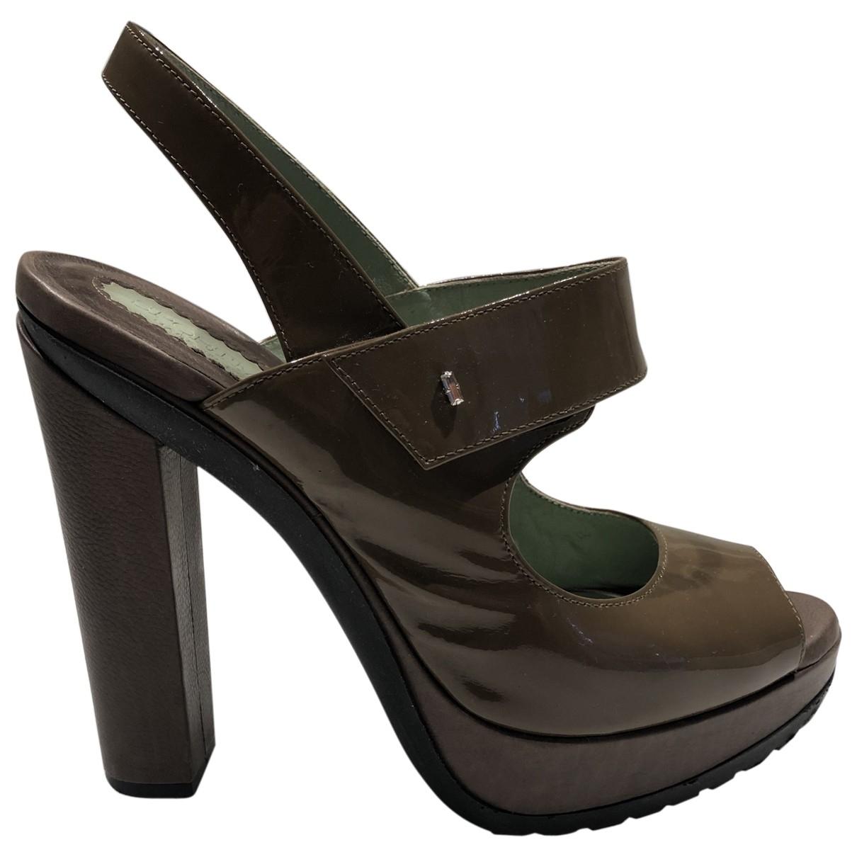 Sport Max - Escarpins   pour femme en cuir verni - marron