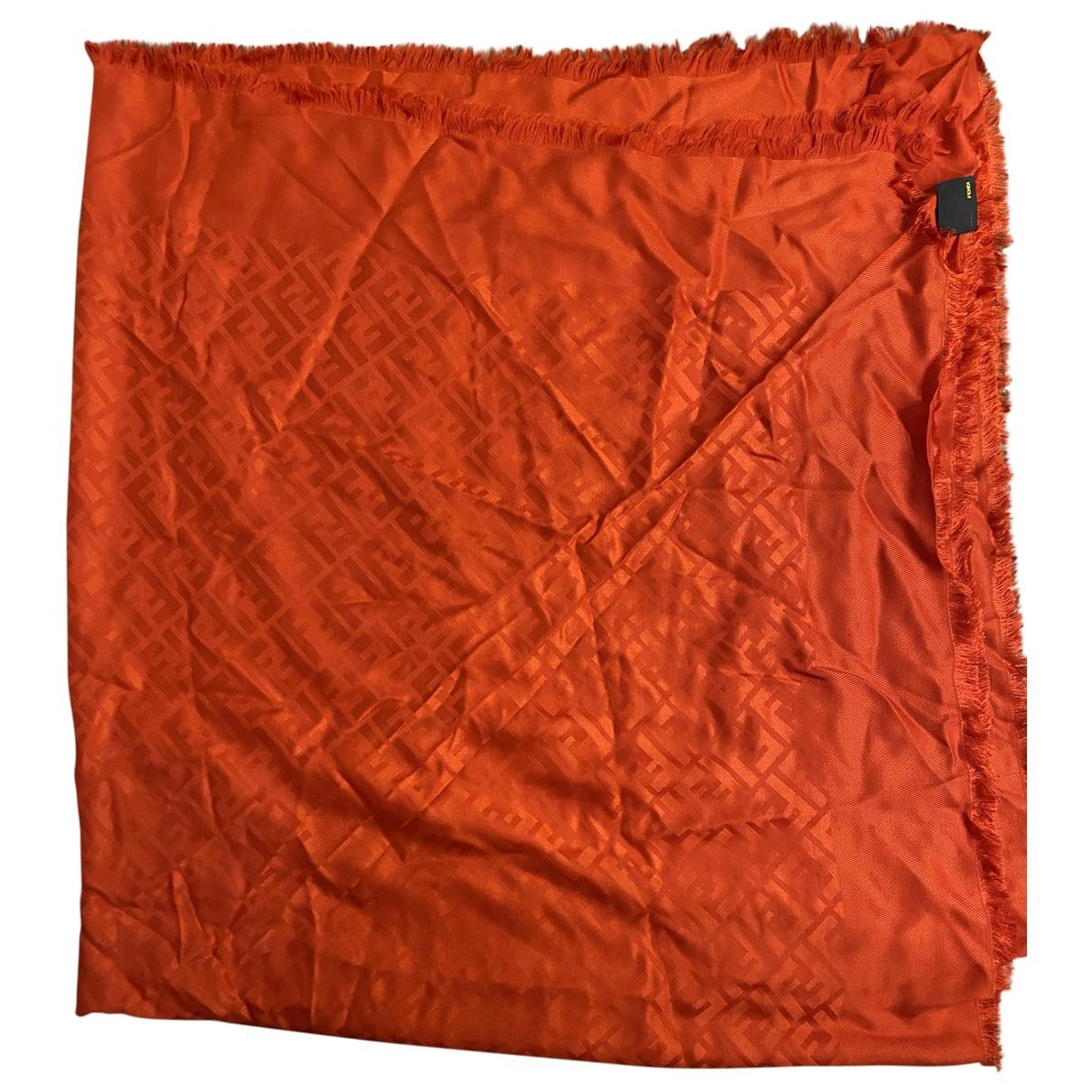 Fendi \N Schal in  Orange Seide