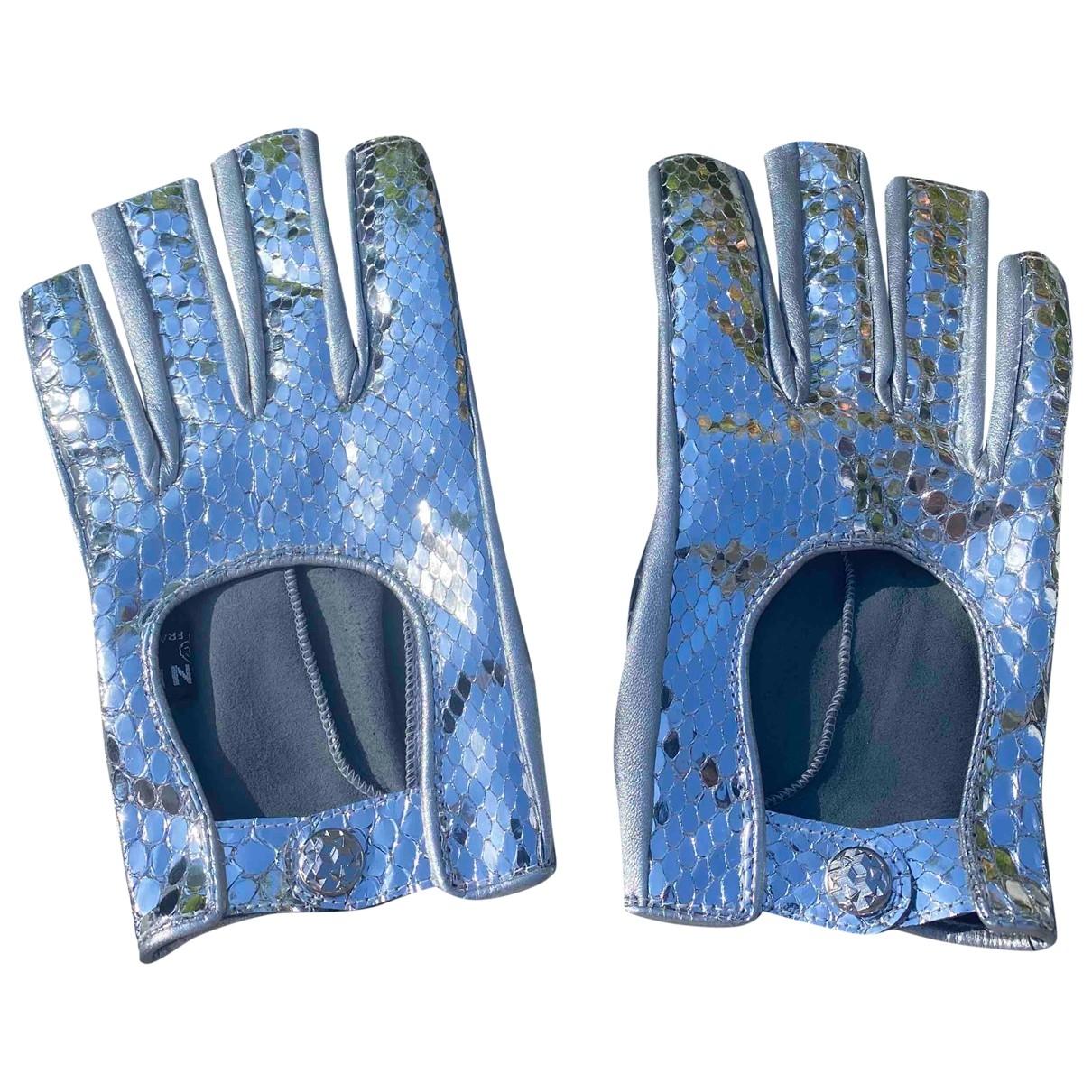 Chanel \N Handschuhe in  Silber Python
