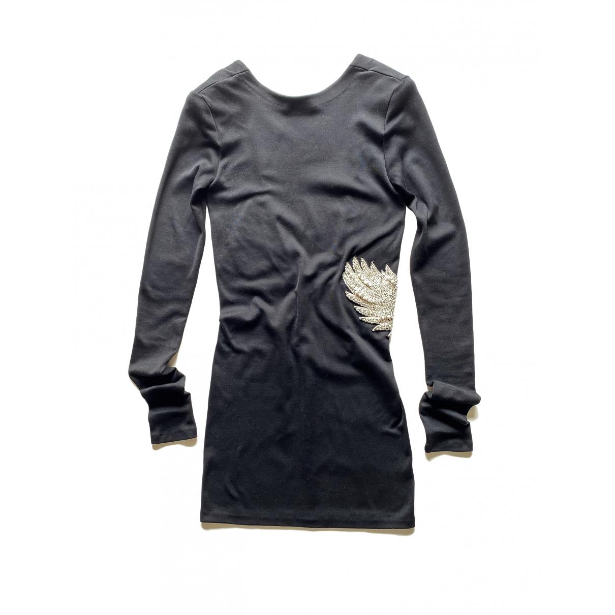 Balmain - Robe   pour femme en coton - noir