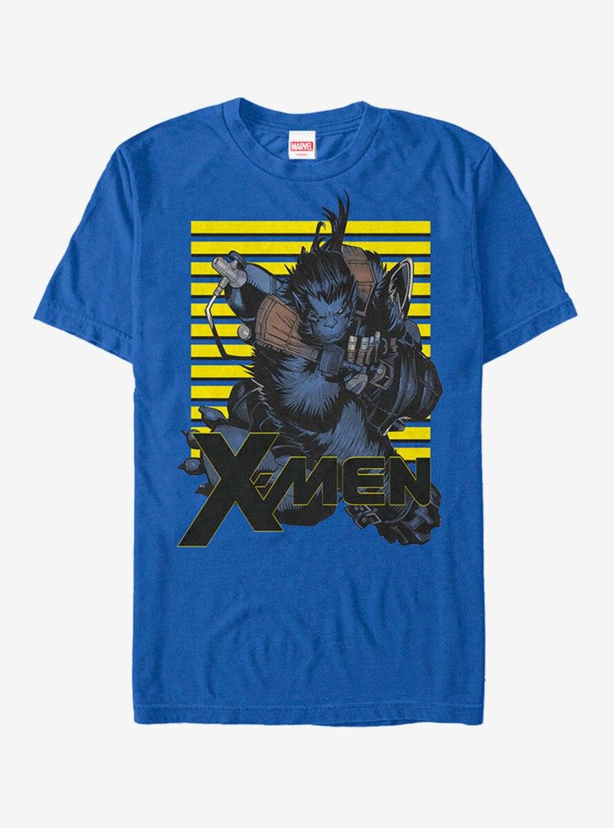 Marvel X-Men Beast Stripes T-Shirt