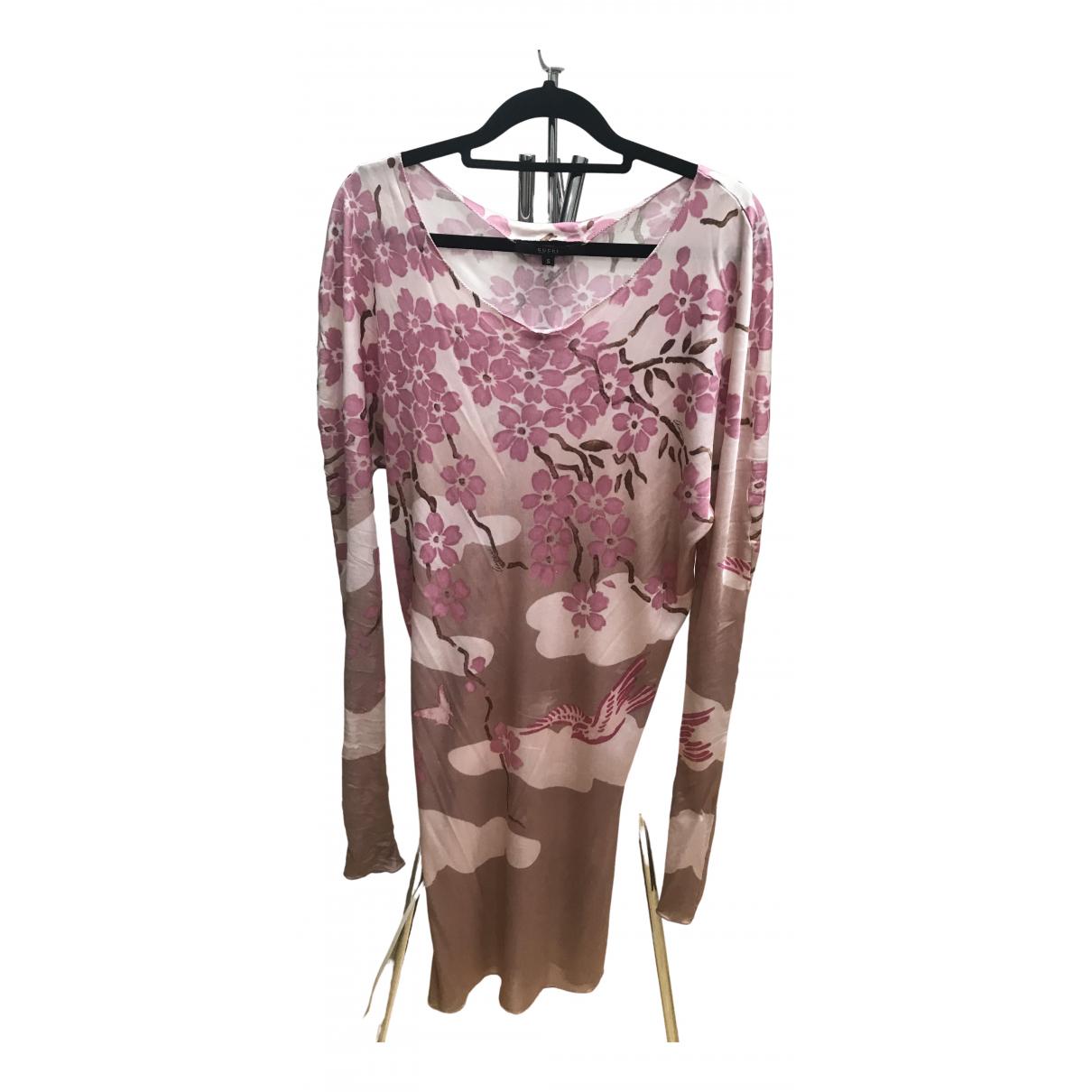 Gucci \N Kleid in  Rosa Viskose