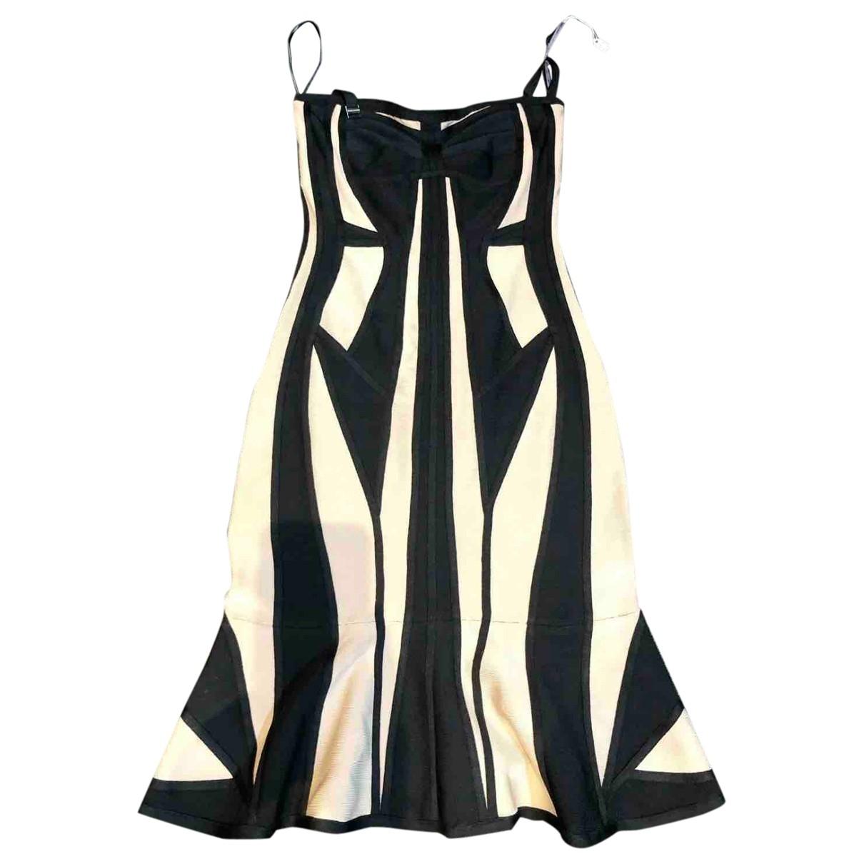 Herve Leger \N Kleid in  Beige Baumwolle