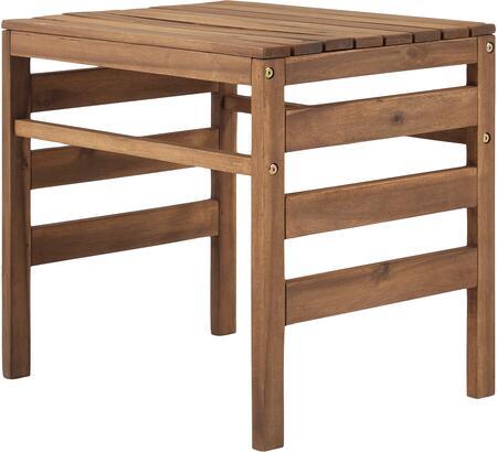 OWSANSTBR Modular Outdoor Acacia Side Table in