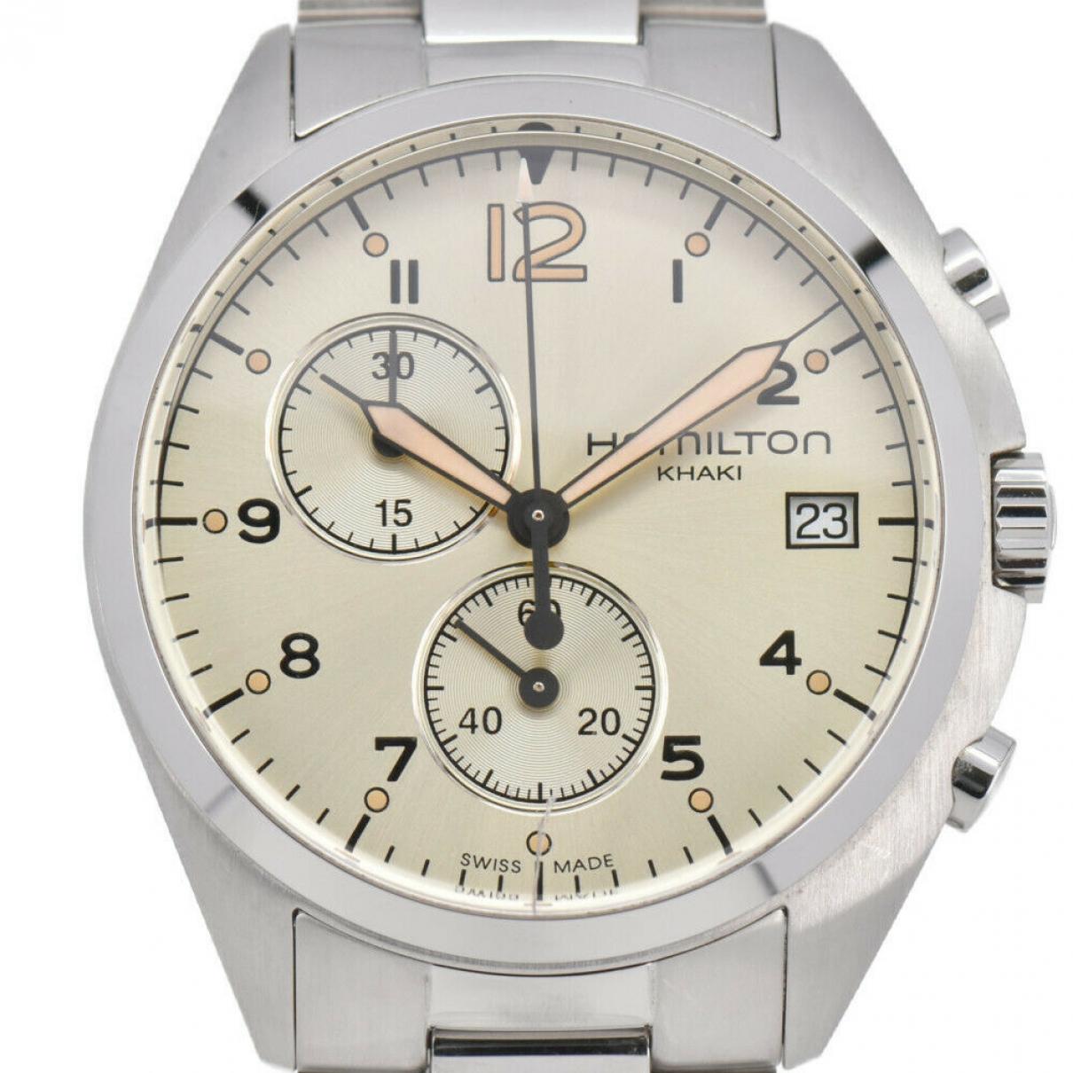 Hamilton \N Uhr in  Silber Stahl