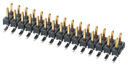 Samtec , TMM, 30 Way, 2 Row, Straight Pin Header (5)
