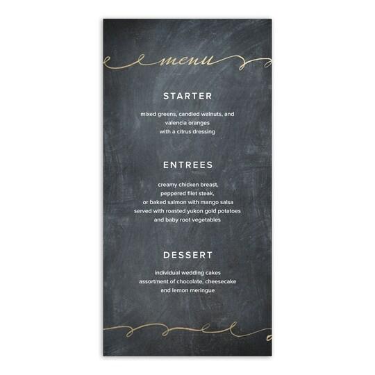 Gartner Studios® Personalized Love Script Flat Wedding Menu Card   Michaels®