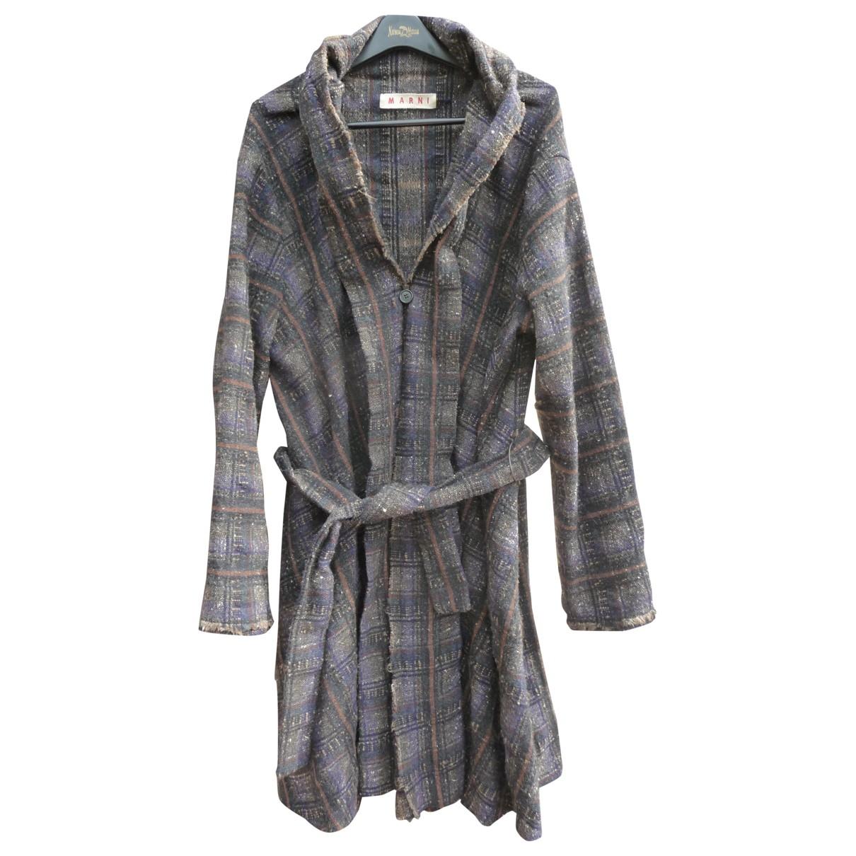 Marni - Manteau   pour femme en laine - marron