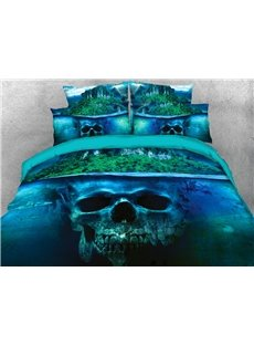 Mysterious Skeletons Under A Island 3D Printed 4-Piece Polyester Bedding Sets/Duvet Covers