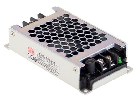 Mean Well RSD-30 30W Isolated DC-DC Converter Chassis Mount, Voltage in 18 → 72 V dc, Voltage out 12V dc Railway