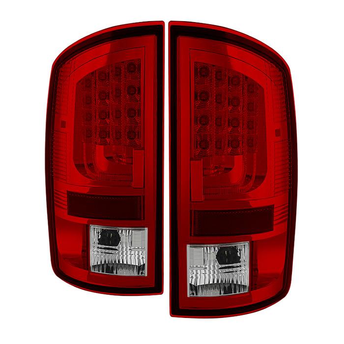 Spyder Auto ALT-YD-DRAM06V2-LED-RC Red Clear LED Version 2 Taillights Dodge Ram 2500 | 3500 07-09