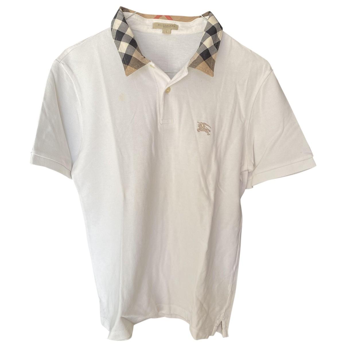 Burberry \N White Cotton Polo shirts for Men S International