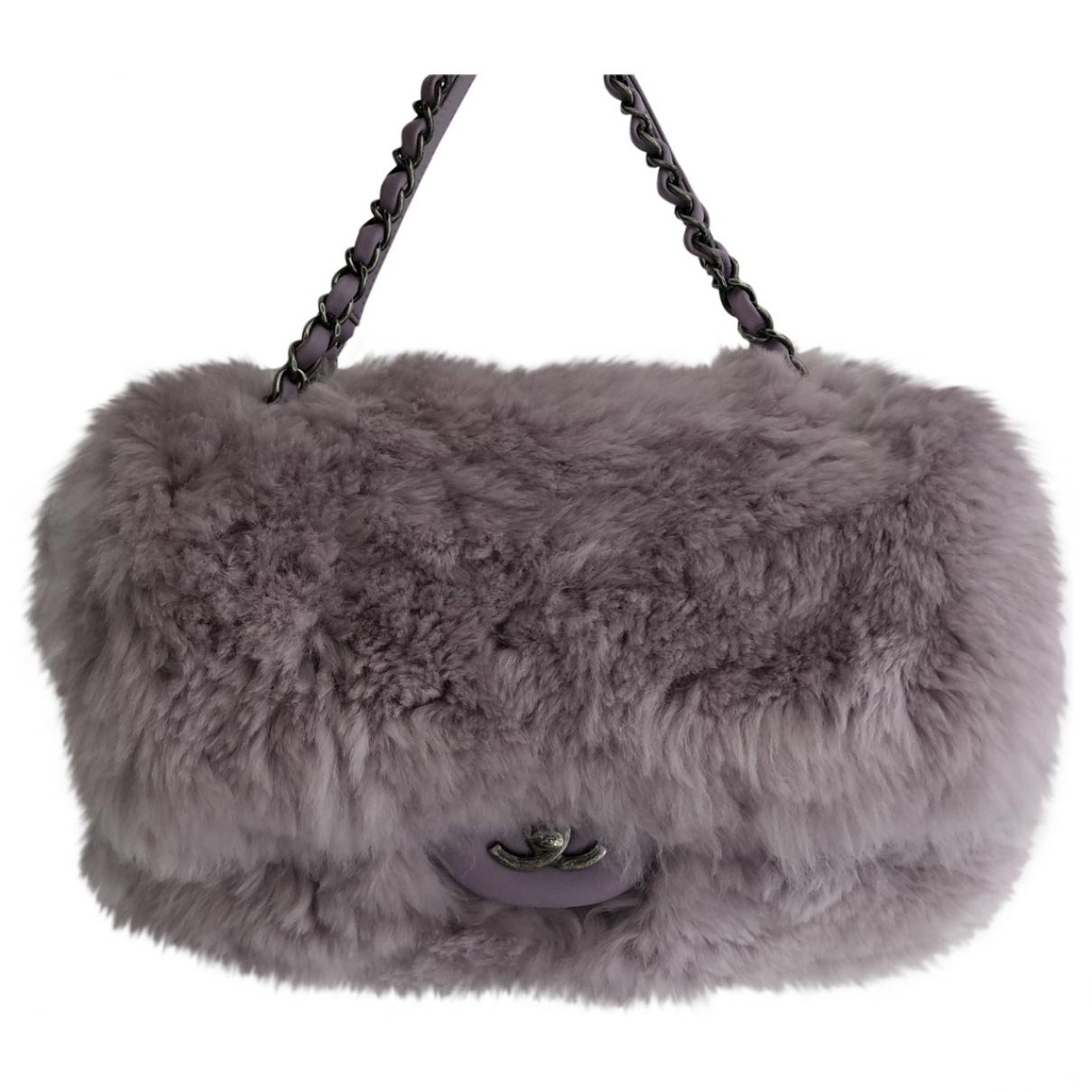 Chanel Timeless/Classique Purple Rabbit handbag for Women \N