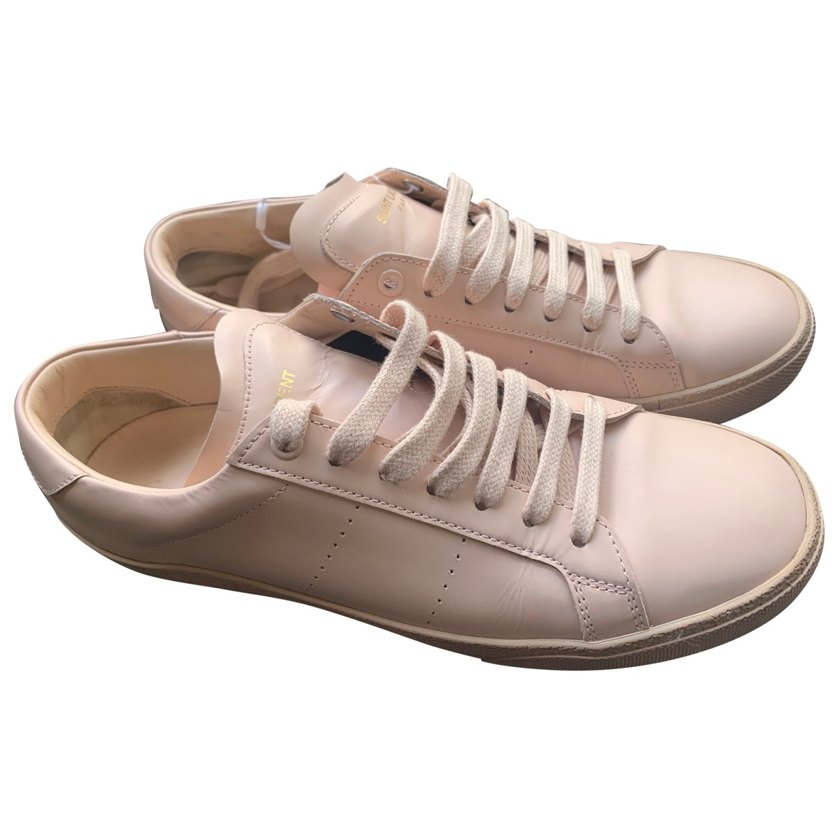 Saint Laurent \N Pink Leather Trainers for Women 40 EU