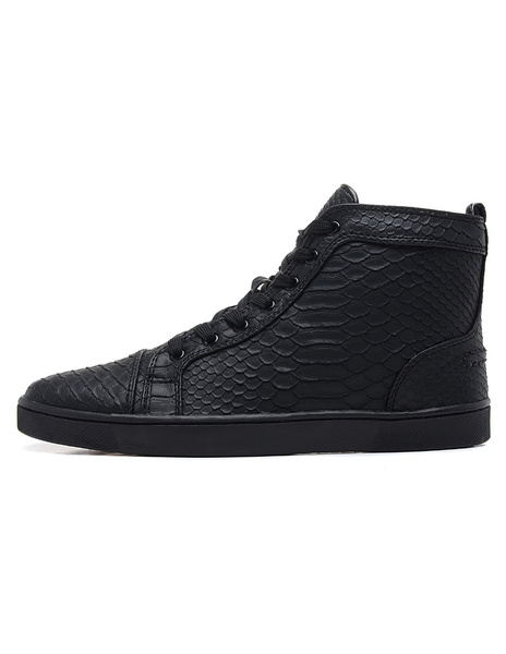 Milanoo Black Skate Shoes 2020 Mens High Top Sneakers Leather Round Toe Lace Up Casual Shoes