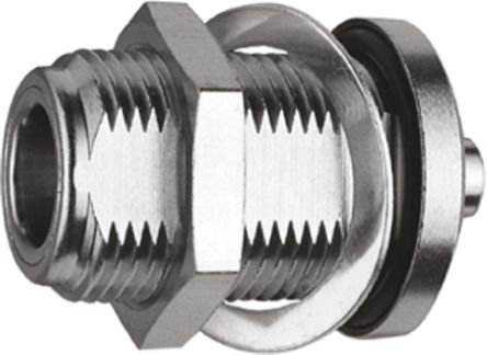 Telegartner Straight 50Ω Panel Mount Coaxial Connector, jack, Copper Nickel Alloy, White Bronze, Solder Termination,
