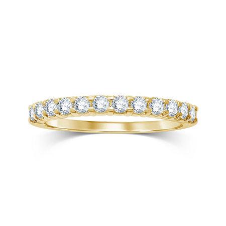 1/2 CT. T.W. Diamond 14K Yellow Gold Wedding Band, 7 , Yellow