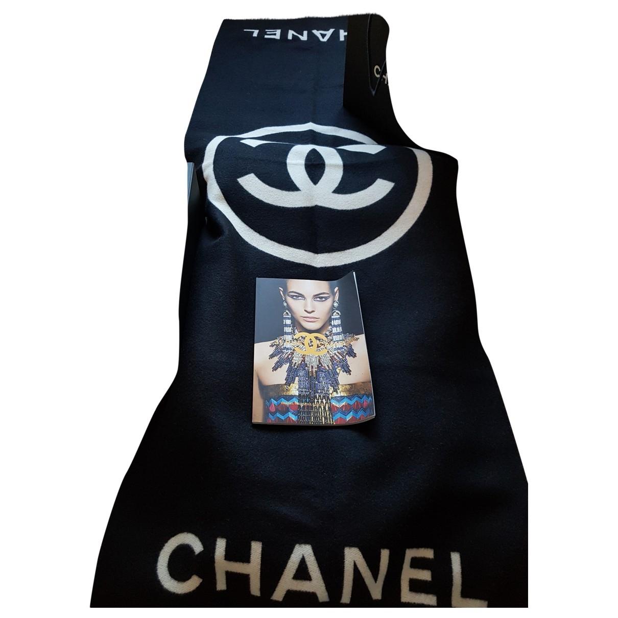 Chanel \N Schal in  Schwarz Kaschmir