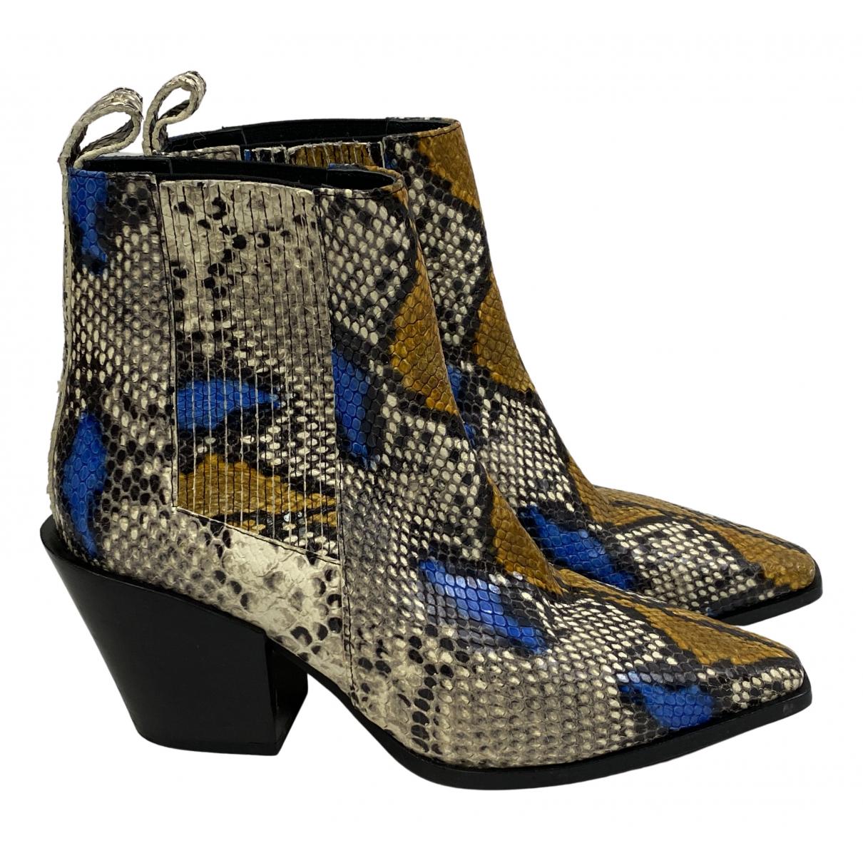Aeyde - Boots   pour femme en cuir - multicolore