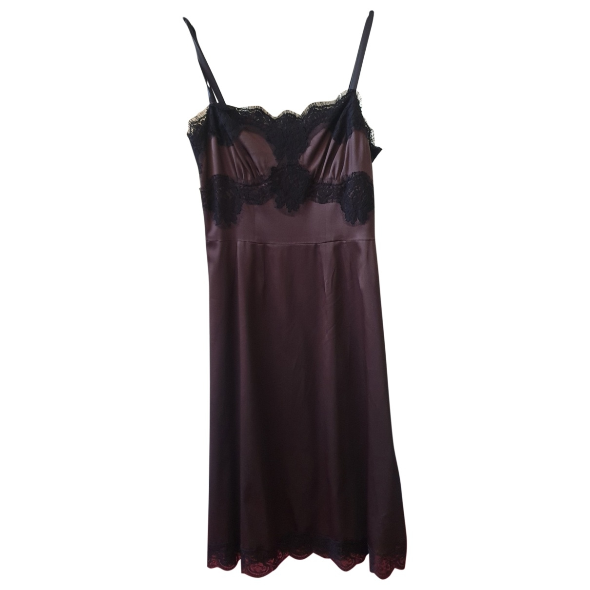 Dolce & Gabbana - Robe   pour femme en soie - bordeaux