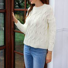 Jersey tejido con textura de hombros caidos
