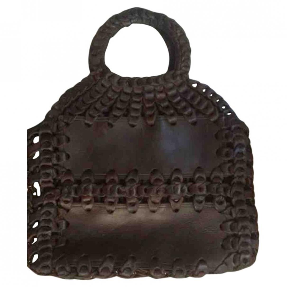Non Signe / Unsigned \N Handtasche in  Braun Leder
