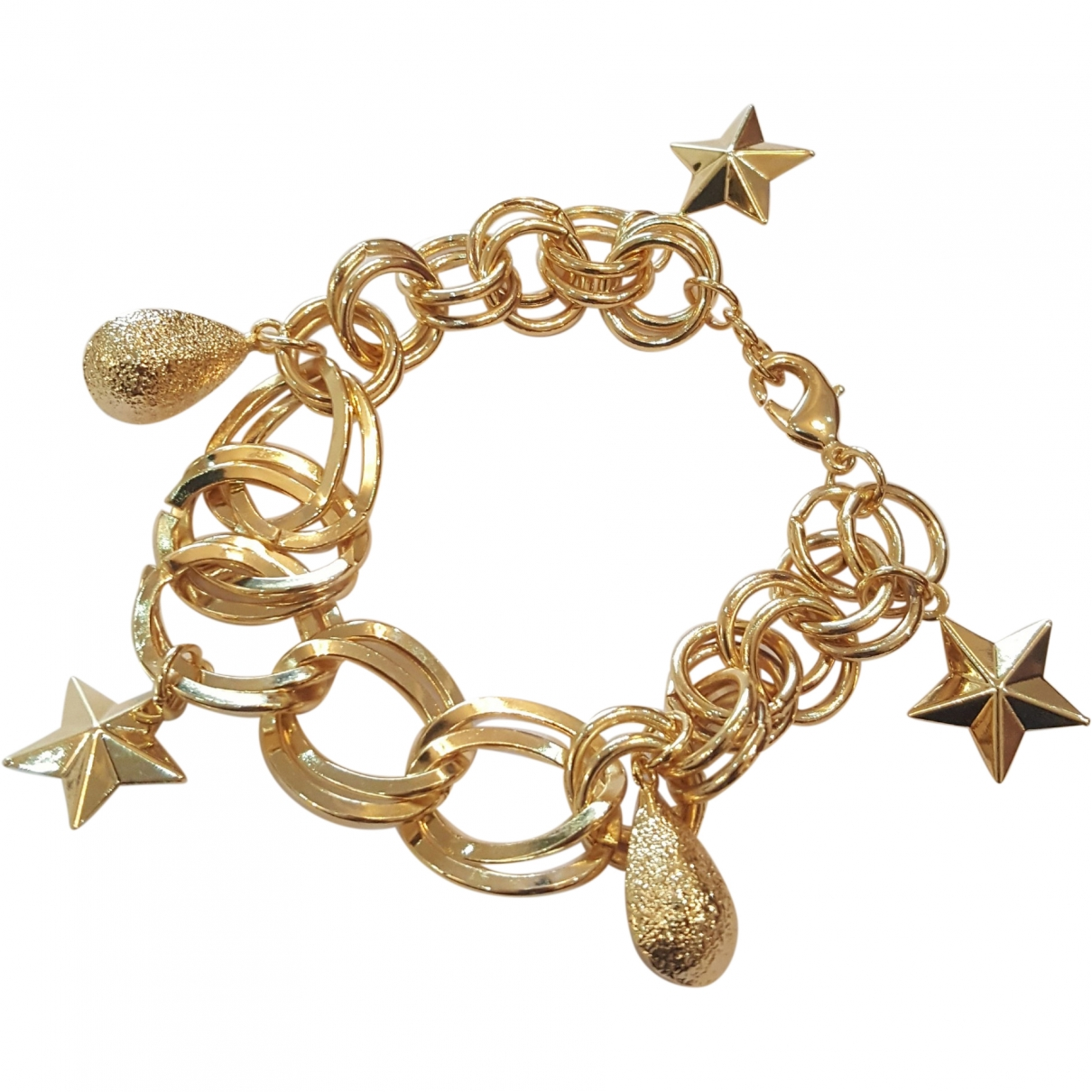 Non Signé / Unsigned Motifs Etoiles Gold Metal bracelet for Women \N