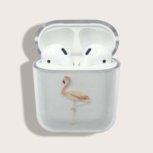 Flamingo Pattern Clear Airpods Case
