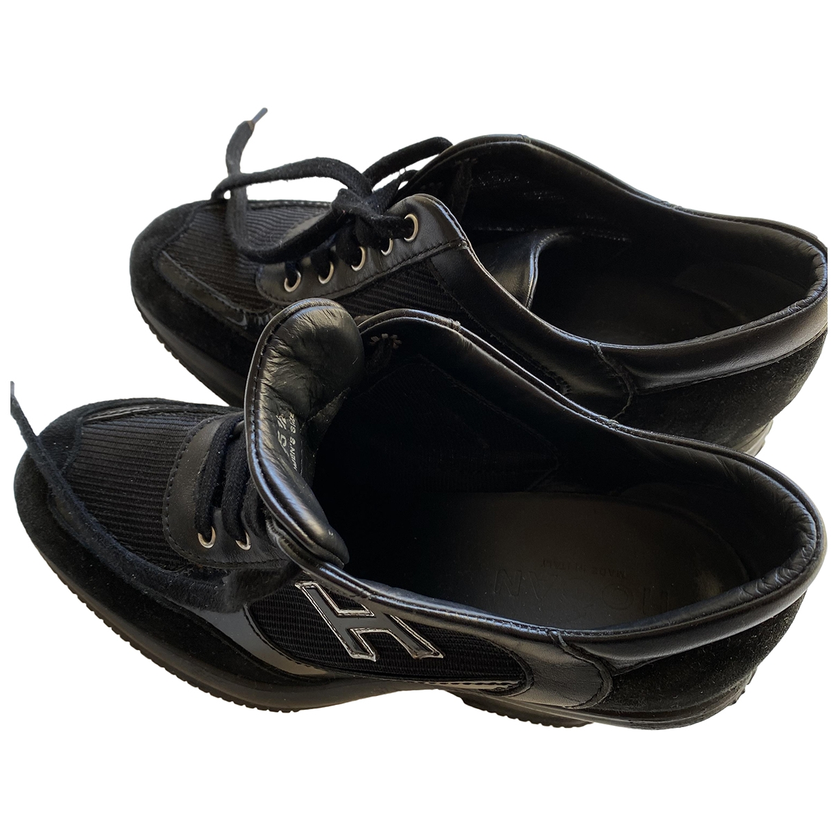 Hogan \N Black Leather Trainers for Women 35.5 EU