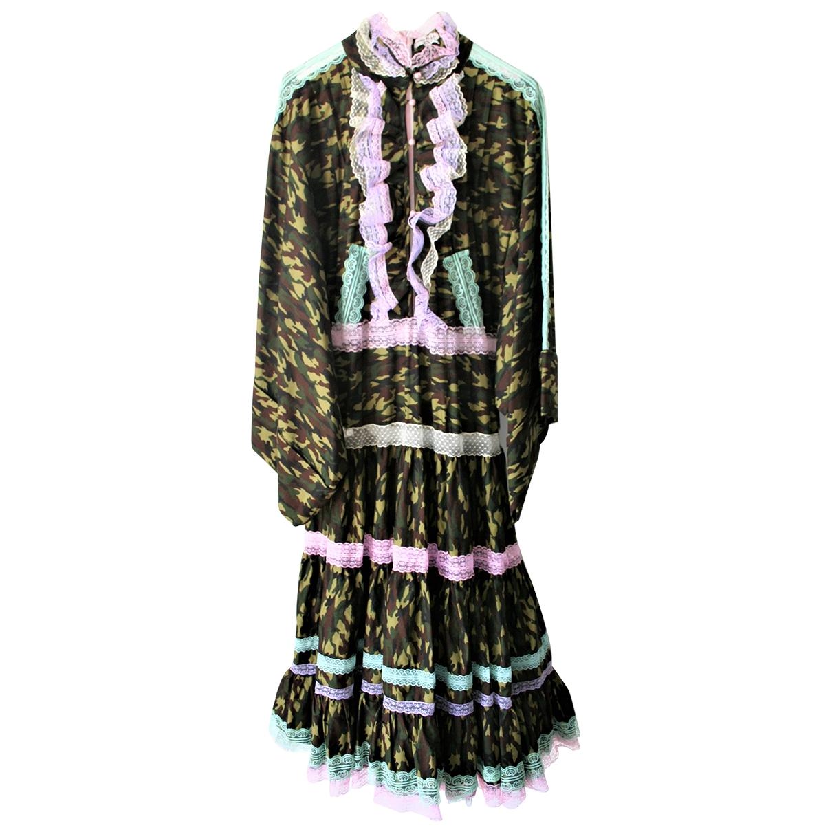 Natasha Zinko \N Kleid in  Khaki Baumwolle