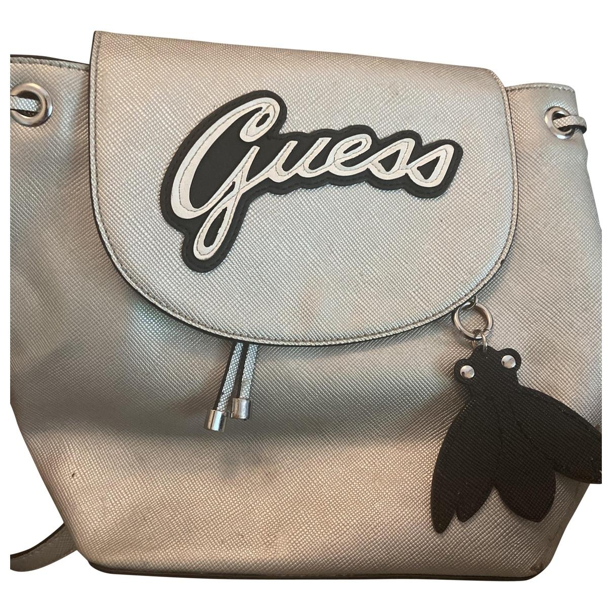 Guess \N Grey Glitter backpack for Women \N