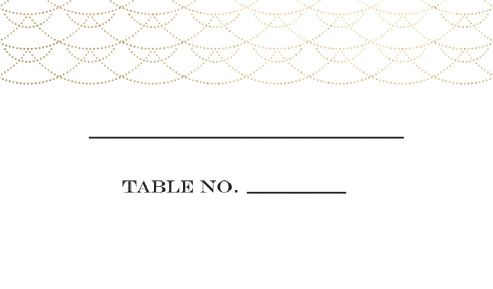 Placecards Business Cards, Set of 40, Card & Stationery -Wedding Place Card Stylish Waves by Tumbalina