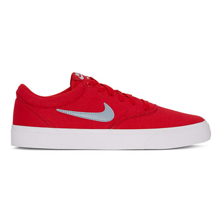 Nike Charge Mens Lace-up Skate Shoes, 10 1/2 Medium, Red