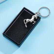 Men Horse Charm Keychain
