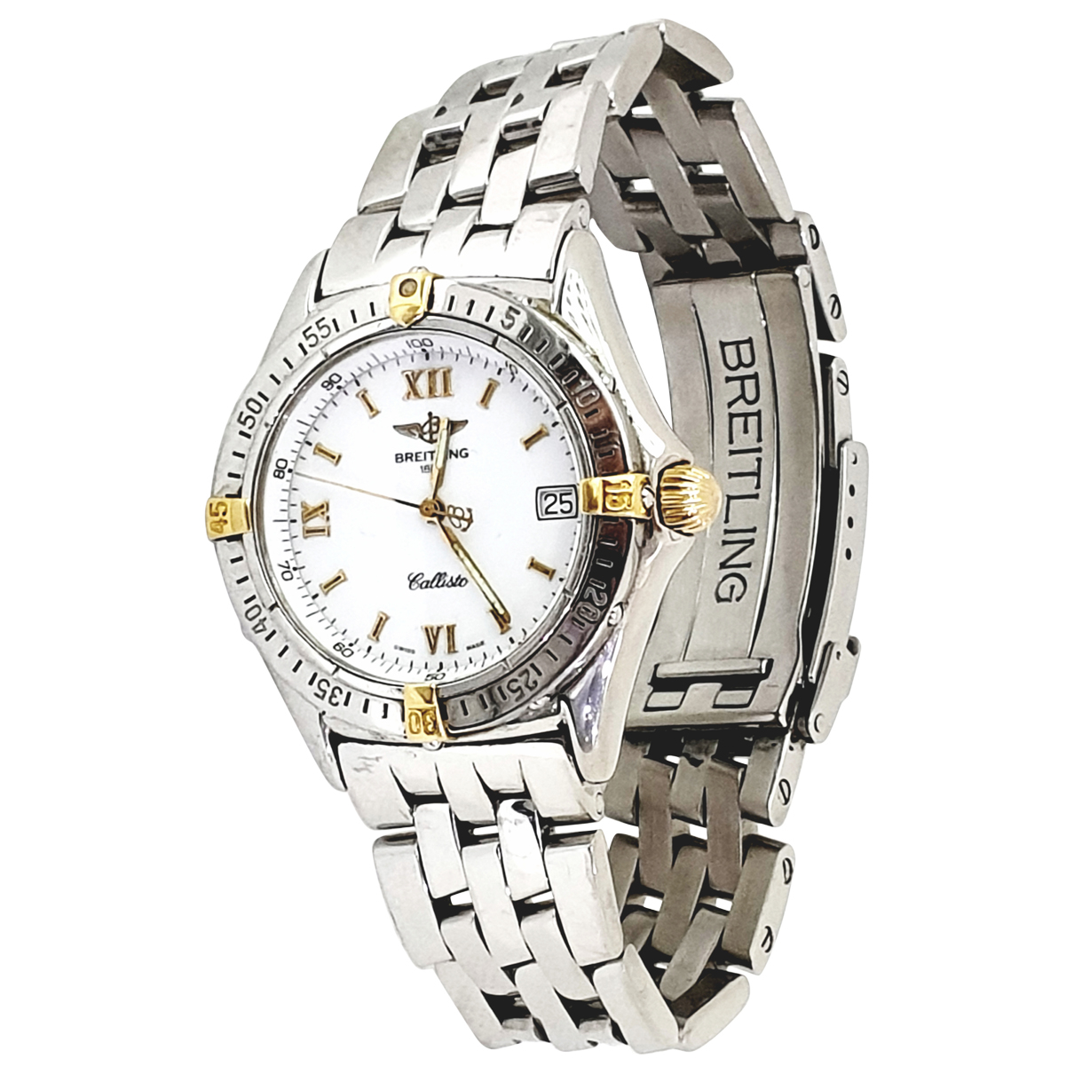 Breitling N Silver gold and steel watch for Women N