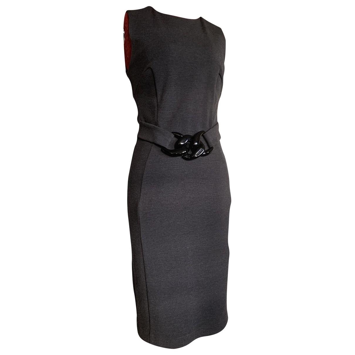 Versace \N Kleid in  Grau Wolle