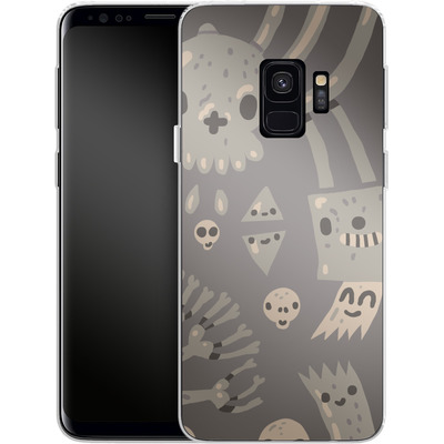 Samsung Galaxy S9 Silikon Handyhuelle - Cartoon Bones von caseable Designs