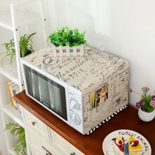 Letter Graphic Microwave Oven Cover