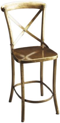 Bennington Collection 3432330 Bar Stool with Transitional Style and Iron Metal Material in Industrial Chic