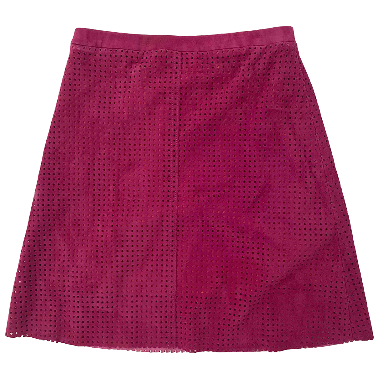 Stouls - Jupe   pour femme en suede - rose