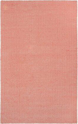 TSTTW291800750810 Twist TW2918-8' x 10' Hand-Woven Reversible Dhurrie New Zealand Wool Blend Rug in Orange  Rectangle