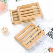 1pc Wooden Soap Dish Holder