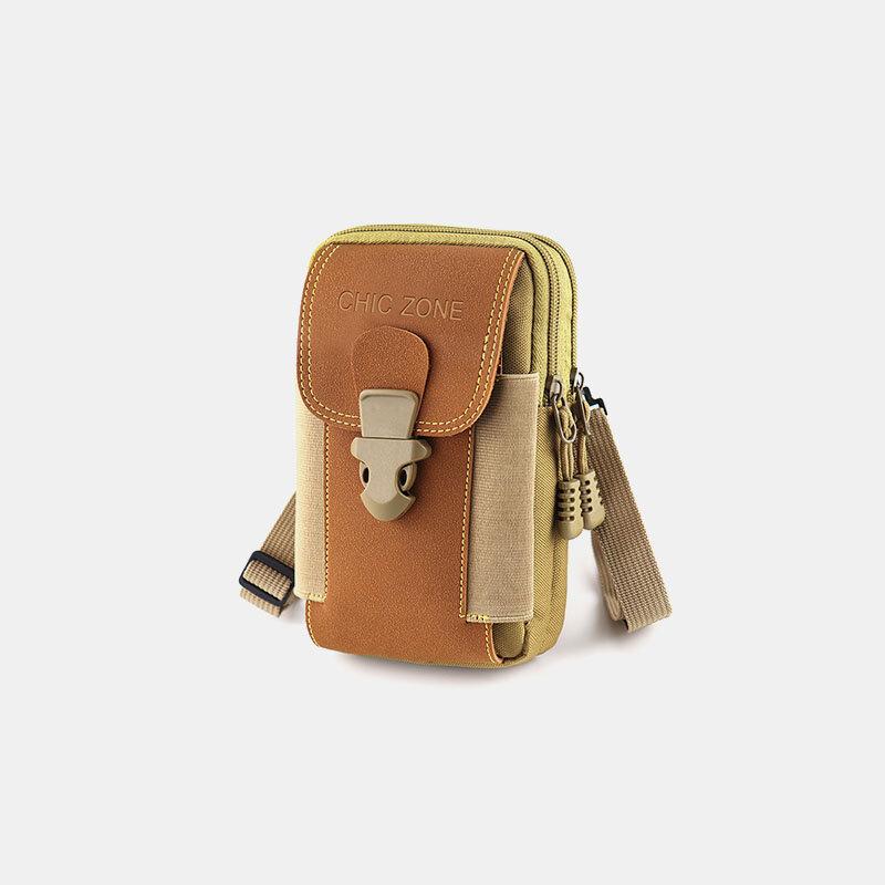 Men Waterproof 6.5 Inch Phone Holder Tactical Outdoor Phone Bag Waist Belt Bag Crossbody Bag