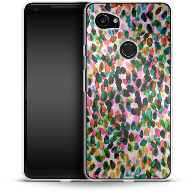 Google Pixel 2 XL Silikon Handyhuelle - Rainbow Drizzle von Amy Sia