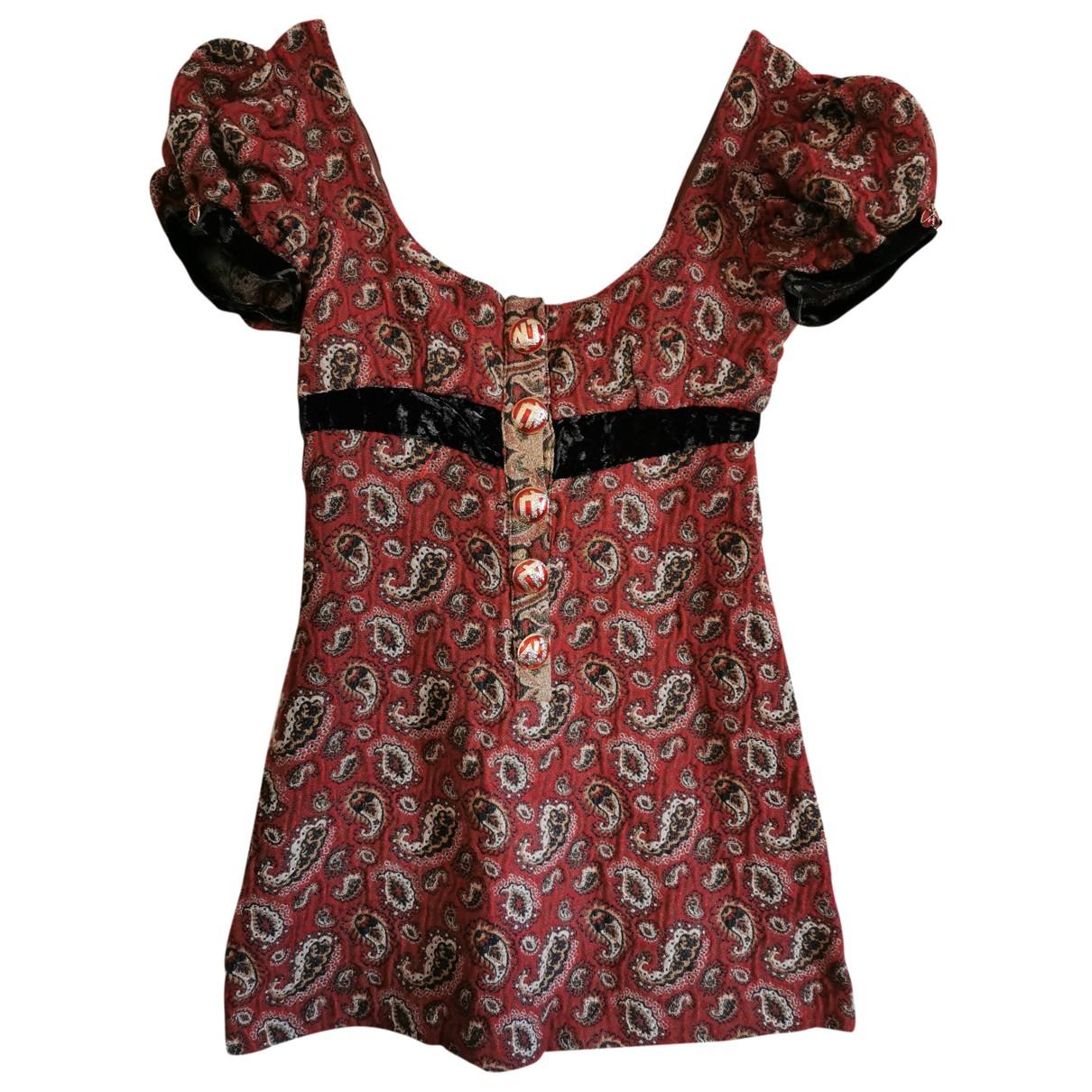 D&g - Robe   pour femme en laine - rouge