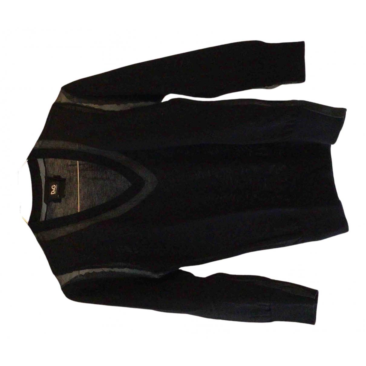 D&g N Black Cotton Knitwear for Women 44 IT