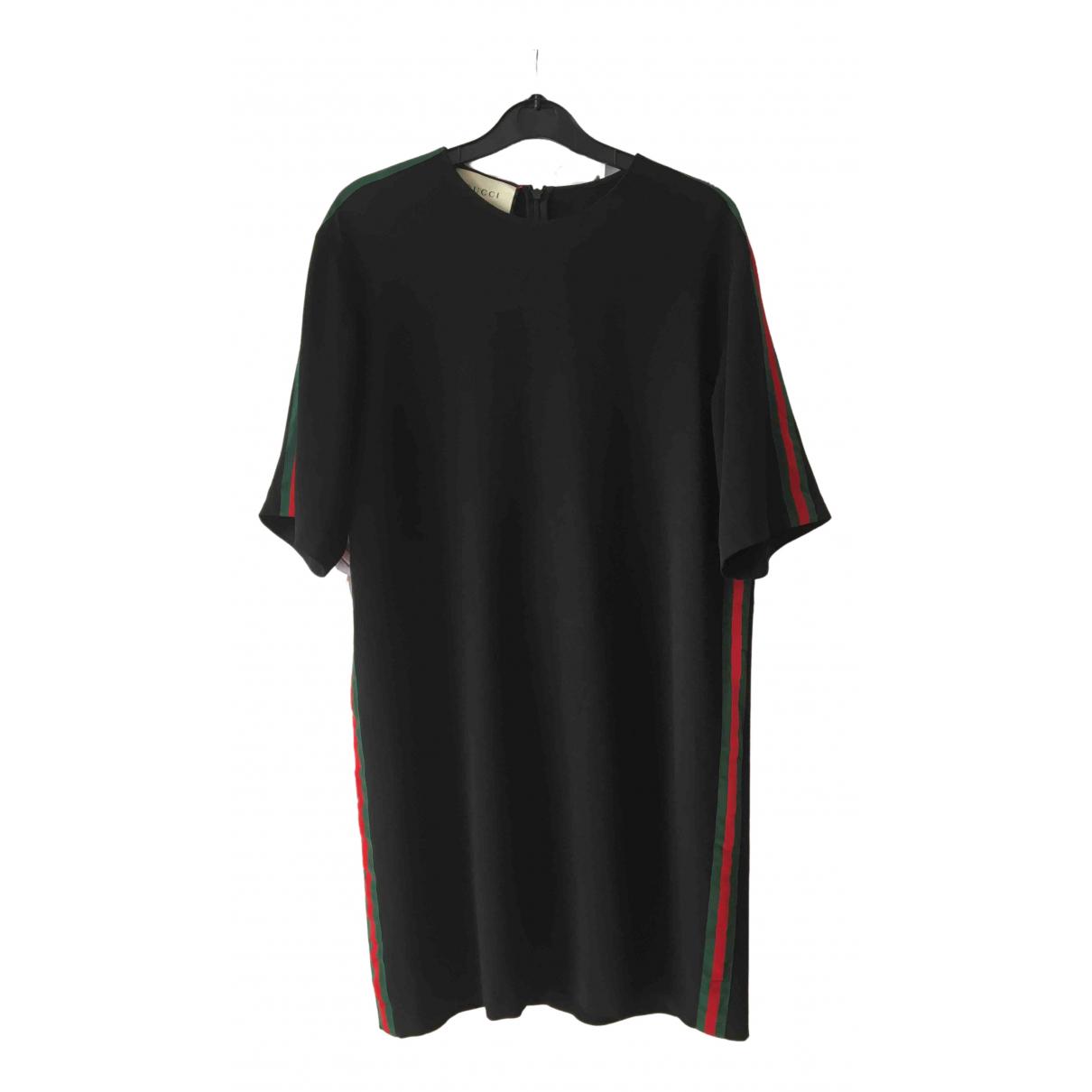Gucci \N Kleid in  Schwarz Viskose