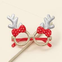 Toddler Kids Christmas Antler Design Glasses