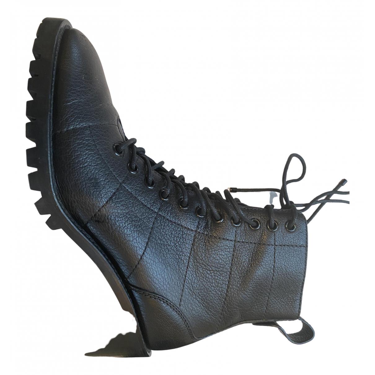 Jimmy Choo - Boots   pour femme en cuir - noir